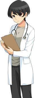 Female doctor standing picture