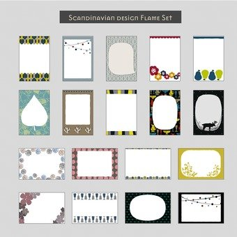 Scandinavian design frame