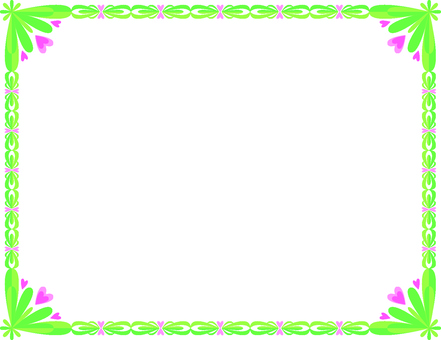 Green and pink frame