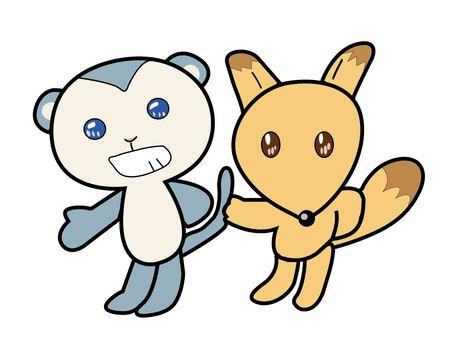 Monkey and fox