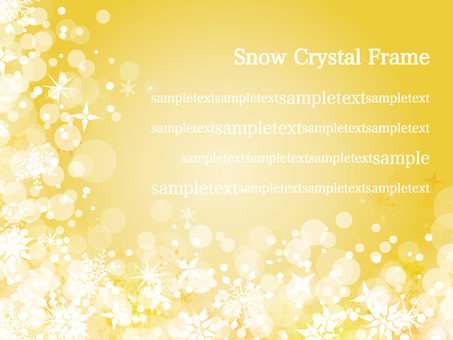 Snow crystal frame ver 20
