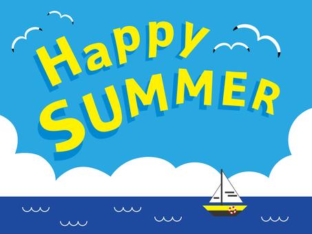 快樂的夏天4夏天字符海