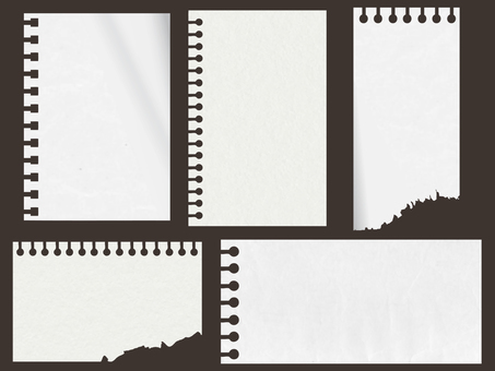 White paper note paper