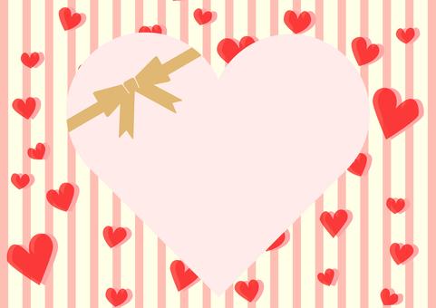 Heart stripe background