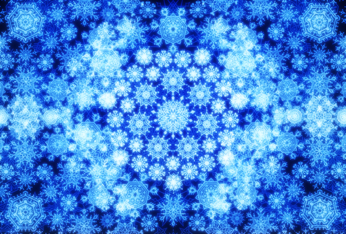 Snow stardust 4 (blue)