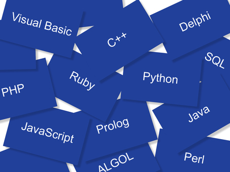 A card representing the type of programming language