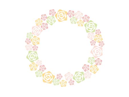 Rose wreath pastel