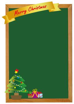 圣诞树黑板风格