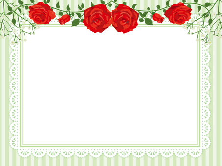 Red rose garland decoration card 12