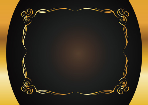 Decorative ruled frame 011_ gold