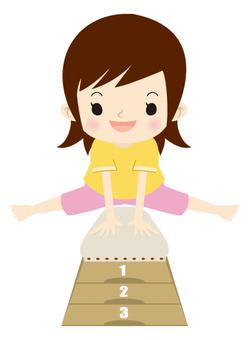 Jump box girl