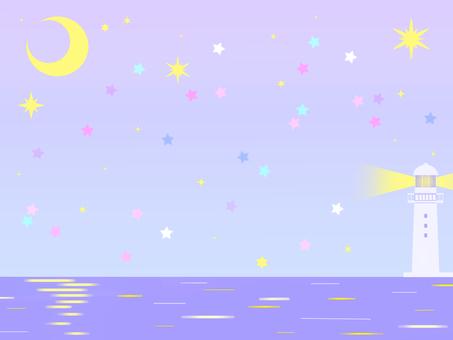 Sea background (night)