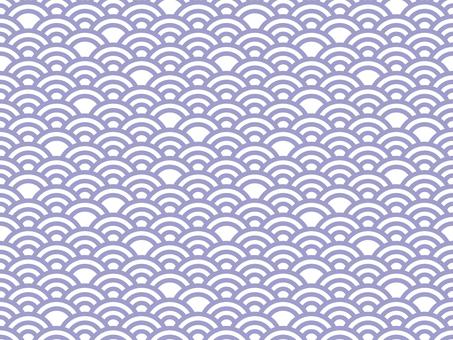 일본식 디자인 원활한 패턴 집 칭하이 파 04 / 보라색
