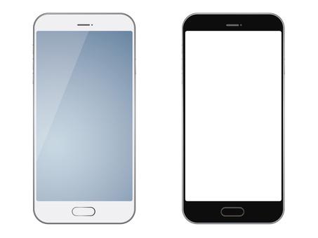 Illustration set of smartphone