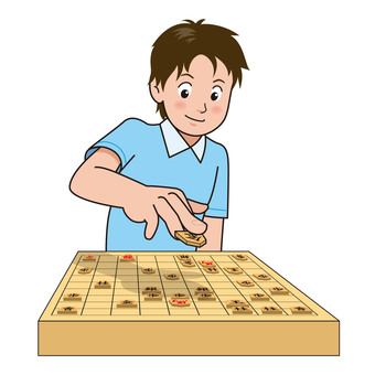 Shogi game illustration