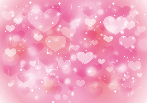Heart and sparkling background 05 _ dark pink