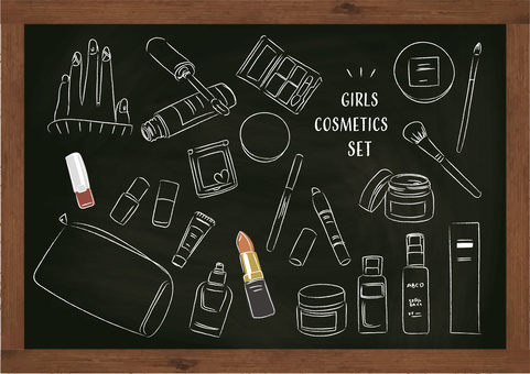 Cosmetics cosmetics girl makeup blackboard