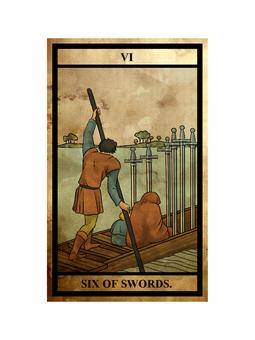 Tarot sword 6