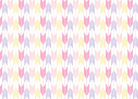 ひな祭りカラーの矢絣3
