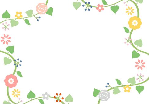 Flower frame with flower