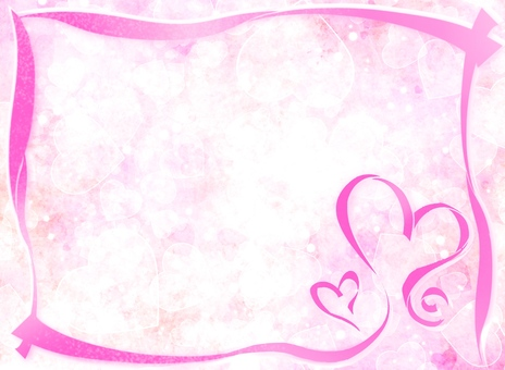 Ribbon frame 3 Heart background