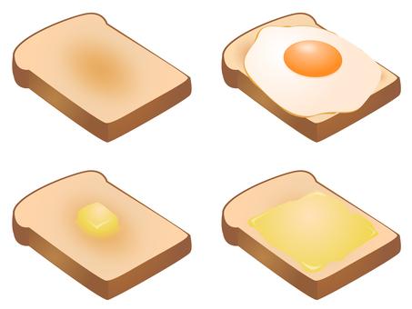 Various toast