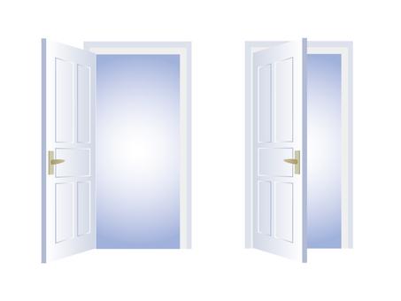 Door opening and closing set