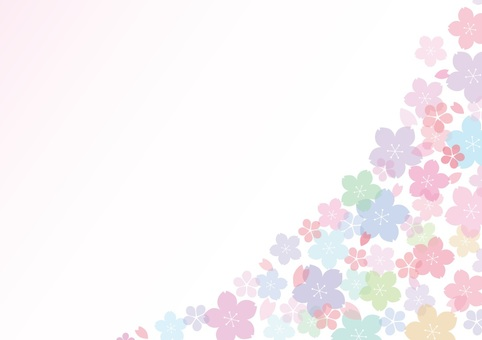 Pastel cherry blossoms background 1
