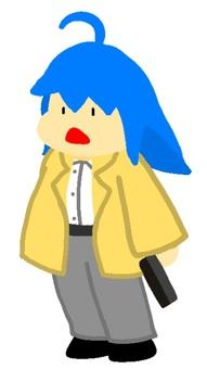 Trench coat female detective