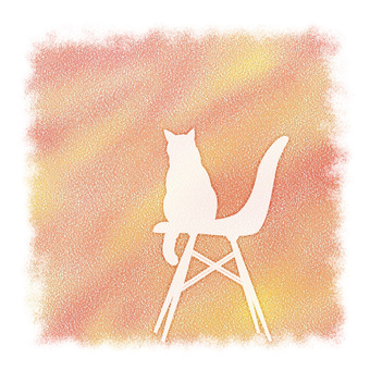 Space cat and design chair warmly