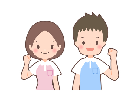 Caregiver Male / Female Guts pose