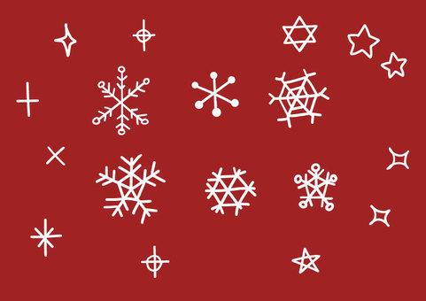 雪とキラキラのセット