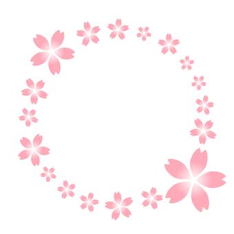 Cherry blossom circular frame