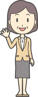 Bob middle-aged woman suit-226-whole body