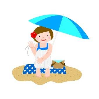 Woman · sandy beach 2