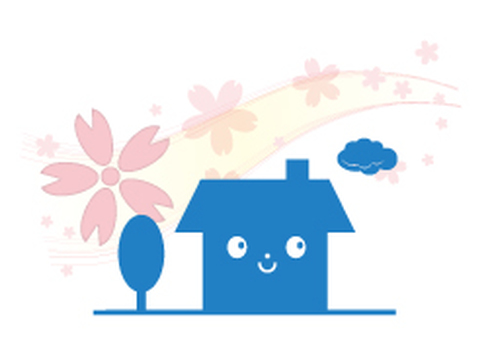 Cherry blossom dwelling (front) _ blue