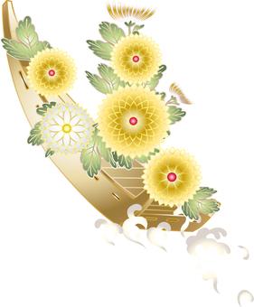 Chrysanthemum flower ship