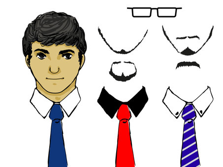 Cut male employee dress up