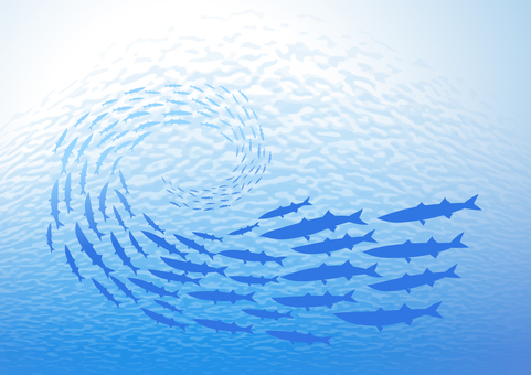 A group of fish in the sea