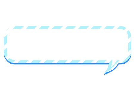 ai round corner balloon with light blue border line