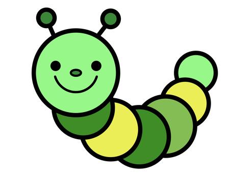 Caterpillar green caterpillar