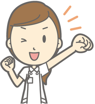 Female nurse - cheering - bust