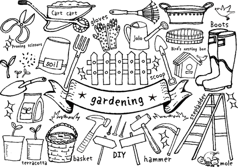 Handwritten gardening set