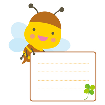 Honey bee's bulletin board