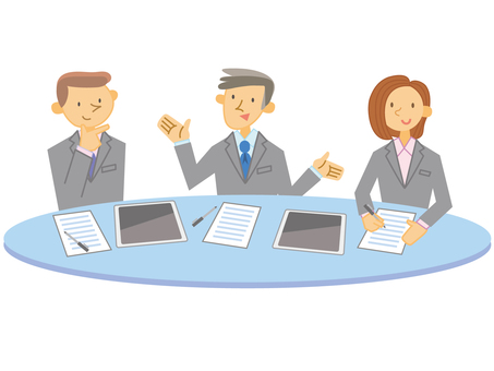Business meeting _ 3 people