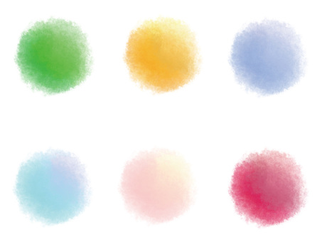 Watercolor style set
