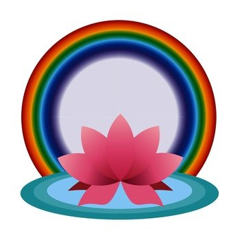 Lotus and rainbow