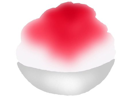 Shaved ice strawberry