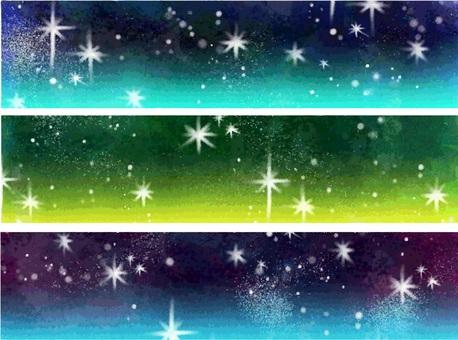 Starry sky banner