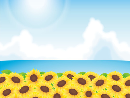 Blue sky, sea and sunflower